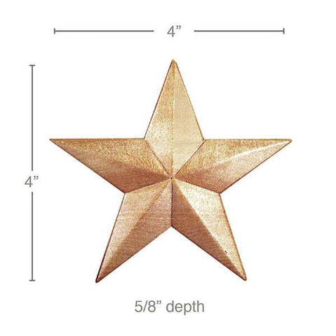 Medium Star (Sold 4 per card), 4''w x 4''h x 5/8''d