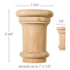 "Small Traditional Capital, 1 3/4''w x 2 3/8''h x 7/8''d, (accepts up to 1""w x 1/2""d), Sold 2 per package"