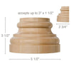 "Extra Large Traditional Base, 5 1/2''w x 3 1/2''h x 2 3/4''d, (accepts up to 3""w x 1 ¬?""d)"
