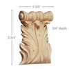 "Large Acanthus Spool Corbel, (Sold 2 per card, complements large capitals and 3 1/2"" friezes), 3 3/8''w x 3 3/4''h x 3/4''d"