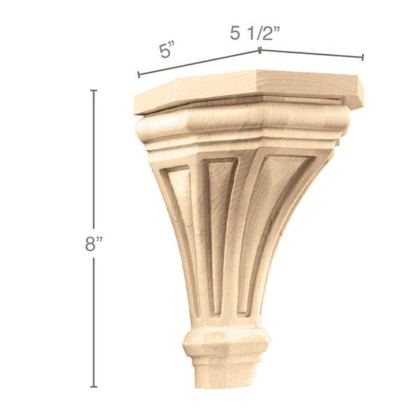 "Medium Pinnacle Corbel, 5 1/2""w x 8""h x 5""d"