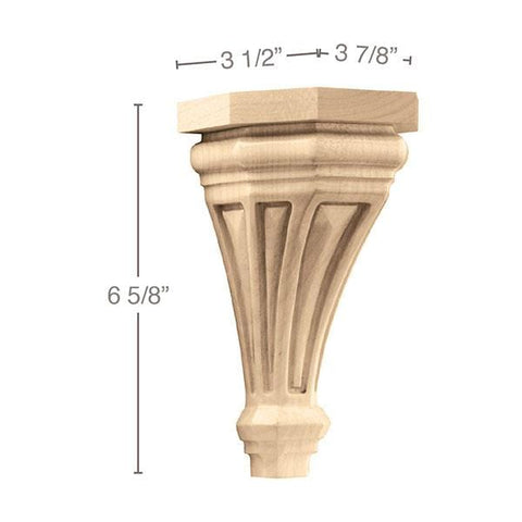 "Small Pinnacle Corbel, 3 7/8""w x 6 5/8""h x 3 1/2""d"