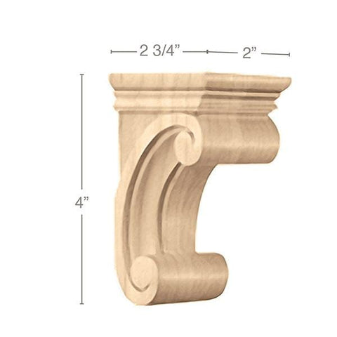 "Small Madeline Corbel, 2""w x 4""h x 2 3/4""d"