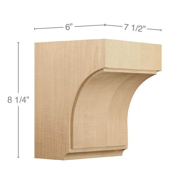"Medium Triad Corbel, 7 1/2""w x 8 1/4""h x 6""d"