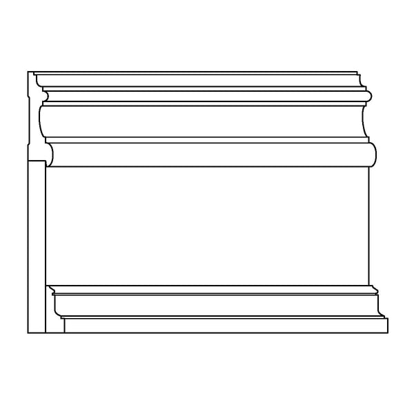 "Baseboard - PM622, DS1x8, PM529, 1 1/2""w x 11""d"