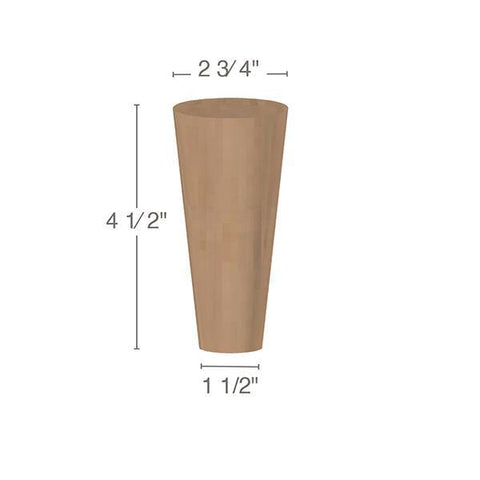 "Cabinet & Furniture Foot, 2  3/4""w x 4  1/2""h x 3 1/4"" d"