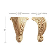 "Tall Acanthus Corner Foot(Sold 1 per package), 3 5/8""w x 6""h x 2 3/4""d"