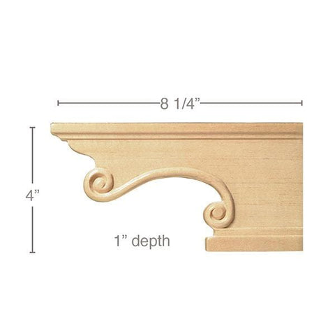 "Pedestal Foot(Sold left and right pair per package), 8 1/4""w x 4""h x 1""d"