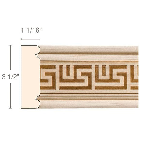 Greek Key, 3 1/2''w x 1 1/16''d