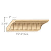 Medium Fluted Crown(Repeats 2), 3 1/2''w x 13/16''d x 8' length, Resin is priced per foot.