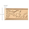 Large Sicilian Frieze(Repeats 15 1/2), 5 1/4''w x 13/16''d x 8' length, Resin is priced per foot.
