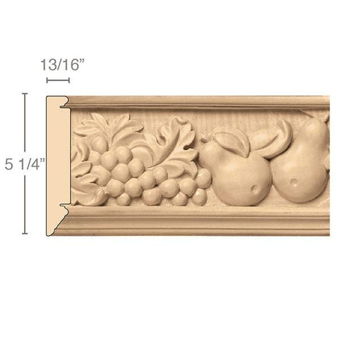 Large Tuscan Country Frieze(Repeats 21), 5 1/4''w x 13/16''d x 8' length, Resin is priced per 8' length