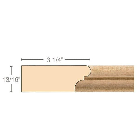 Parting Strip, 13/16''w x 3 1/4''d x 8' length, Resin is priced per 8' length