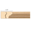 Parting Strip, 13/16''w x 1 5/8''d x 8' length, Maple