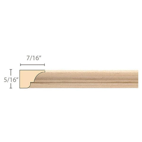 "Moulding, 5/16""w x 7/16""d x 8' length, Resin is priced per 8' length"