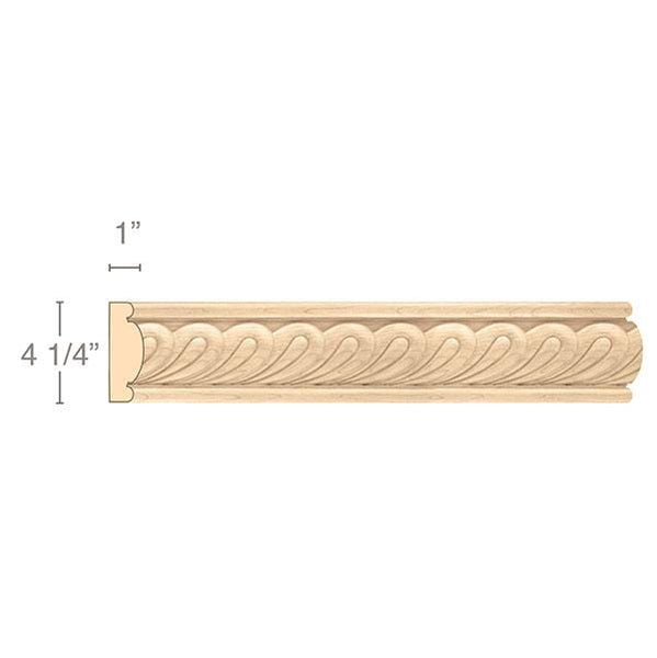 "Large Madeline Moulding, 4 1/4""w x 1""d x 8' length"