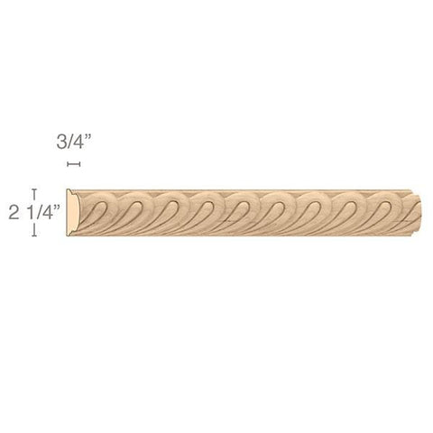 "Madeline Moulding Insert, 2 1/4""w x 3/4""d x 8' length"