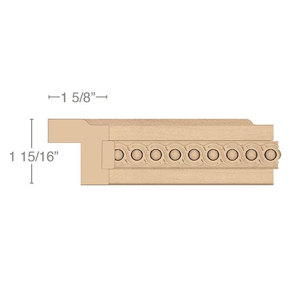 "Contemporary Light Rail Moulding With Infinity Insert, 1 15/16""w x 1 5/8""d x 8' length"