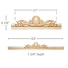 Medium Scrolled Acanthus Pediment, 84''w x 6 7/8''h x 1 5/8''d