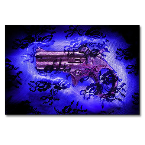 Pink Night, Photo is made using crushed guns taken off the street by the police.