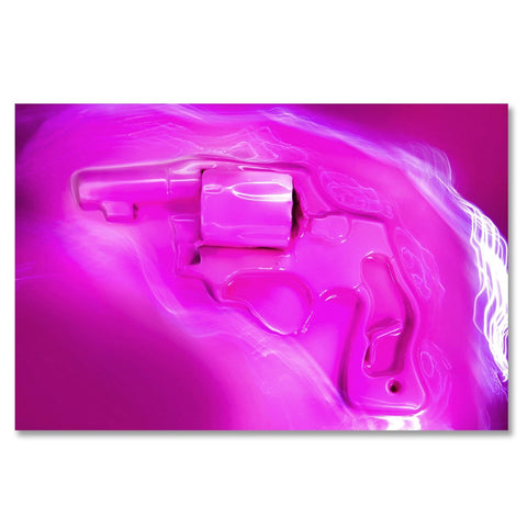 Pink Light, Photo is made using crushed guns taken off the street by the police.