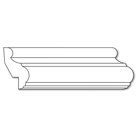 "Traditional Panel Moulding (Lips 1/2 - 3/4), 2""w x 3/4""d"