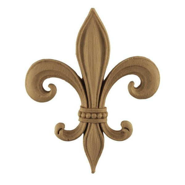 "Empire Fleur de Lis Onlay, 4 3/8""w x 5 1/2""h x 3/8""d, Made to Order, Not Returnable, MINIMUM ORDER AMOUNT $200"