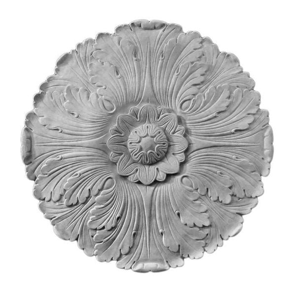 "French Medallion, Plaster, 17 1/2""w x 17 1/2""h x 5/8""d, Made to Order, Not Returnable"