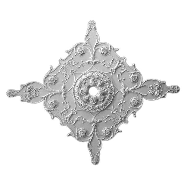 "Medallion With Inset Ring, Plaster, 32""w x 38 1/2""h x 1""d, Made to Order, Not Returnable, MINIMUM ORDER AMOUNT $200"