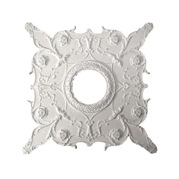 "Italian Medallion, Plaster, 32""w x 32""h x 11/16""d, Made to Order, Not Returnable, MINIMUM ORDER AMOUNT $200"