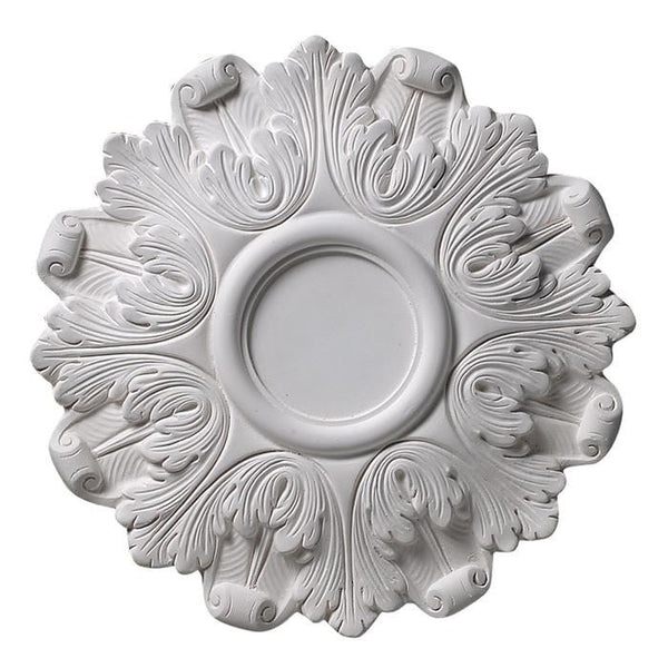 Ring of Acanthus (4 3/4 Center), 12 3/4'' dia. x 1'd, Plaster, MADE TO ORDER, NOT RETURNABLE