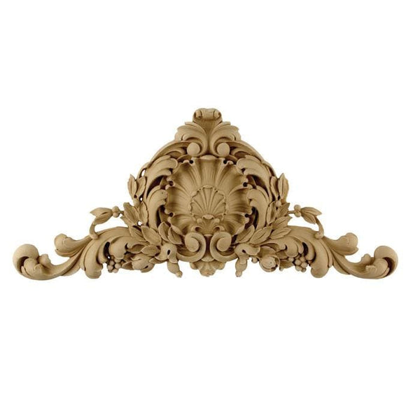 "French Renaissance Cartouche, 14""w x 6 1/4""h x 3/8""d, Made to Order, Not Returnable, MINIMUM ORDER AMOUNT $200"