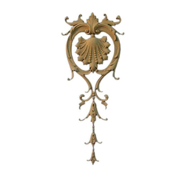"French Renaissance Vertical Design Onlay, 6 3/4""w x 16""h x 1/2""d, Made to Order, Not Returnable, MINIMUM ORDER AMOUNT $200"