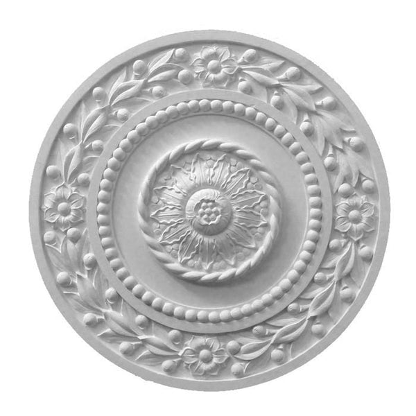 "Empire Medallion, Plaster, 27 3/4""w x 35 3/4""h x 5/8""d, Made to Order, Not Returnable"