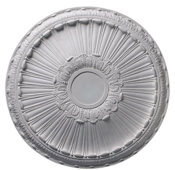 Acanthus & Tongue (7 Center), 34' dia. x 3 3/8''d, Plaster, MADE TO ORDER, NOT RETURNABLE