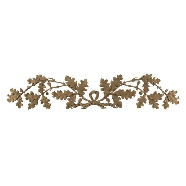 "French Renaissance Oak Leaf Branches Onlay, 23 3/4""w x 4 3/4""h x 1/4""d, Made to Order, Not Returnable, MINIMUM ORDER AMOUNT $200"