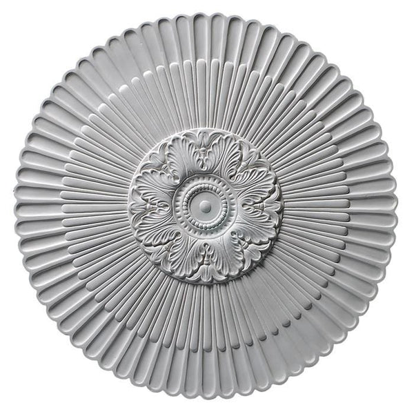 Fluted Medallion, 30'' x 1'', Plaster, MADE TO ORDER, NOT RETURNABLE