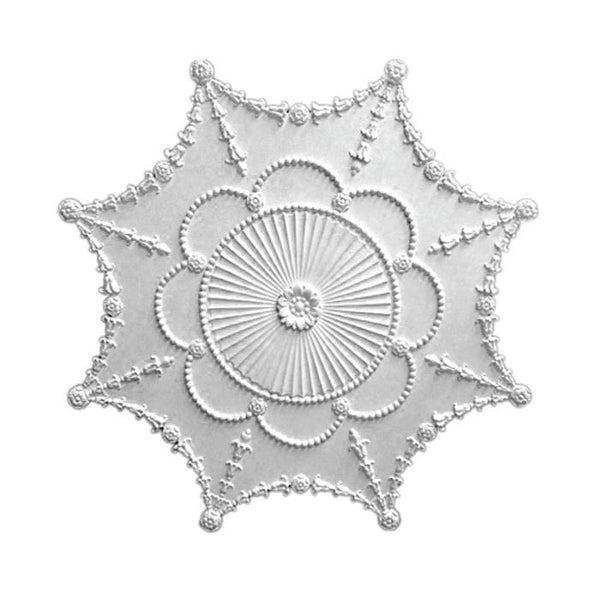 "Empire Medallion, Plaster, 35""w x 35""h x 1 1/2""d, Made to Order, Not Returnable, MINIMUM ORDER AMOUNT $200"