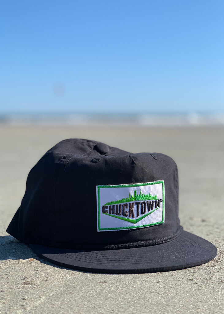 Skyline Patch Unstructured Snapback - Black