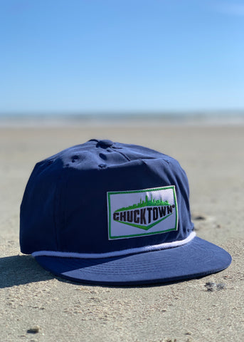Skyline Patch Unstructured Snapback - Royal