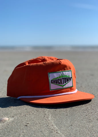 Skyline Patch Unstructured Snapback - Orange
