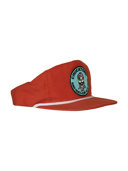 Pirate Patch Unstructured Snapback - Orange