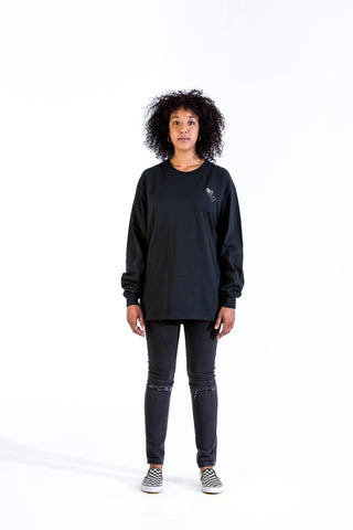 Black Pray'n Crewneck