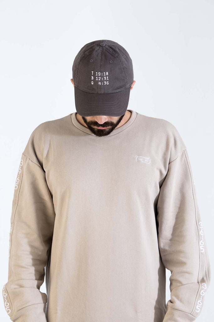 Love Your Neighbor Cap in Deep grey