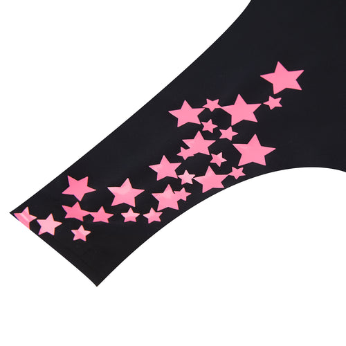 Tap Shoe Black with Neon Pink Stars