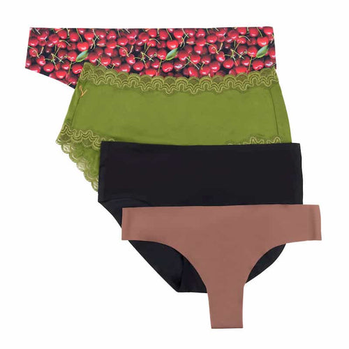 Underwear Intervention Box Red and Green Cherry Print