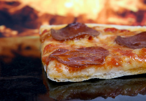 Pizza with Sausage & Carmelized Onion or Charred Pepperoni: A Family Recipe