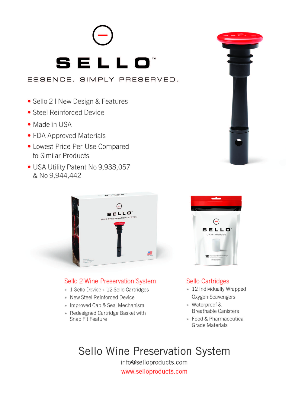 Sello Wine Preservation System