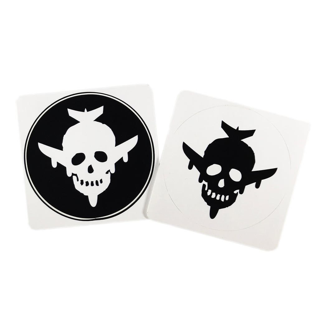 Circle Skull/Plane Logo Sticker