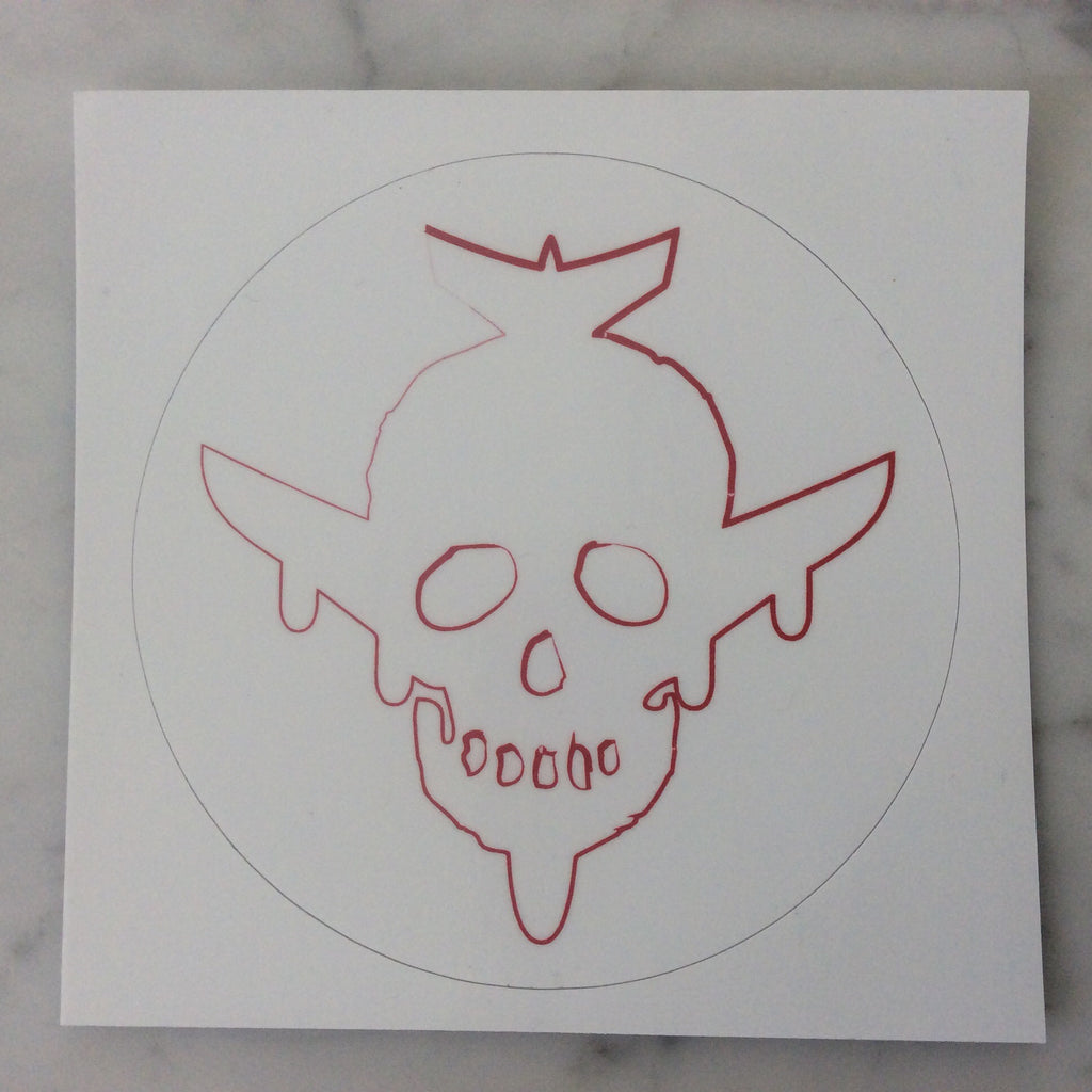 Skull/Plane Logo Outline Sticker